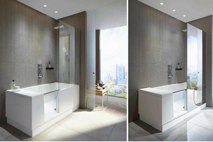 vonia su du u viename shower bath duravit naujienos muresta salonuose architekt ra. Black Bedroom Furniture Sets. Home Design Ideas