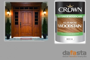 Skaidri, universali medienos dažyvė CROWN All Purpose Woodstain - DAFASTA